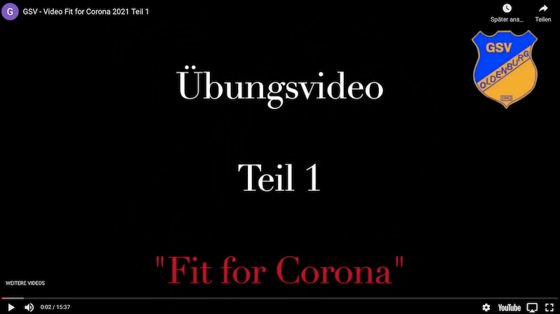 "GSV: Übungsvideo ""Fit for Corona"" Teil 1"