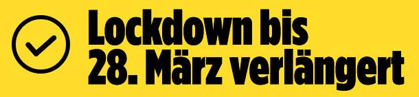 GSV: Sport-Lockdown bis 28. März 2021 verlängert