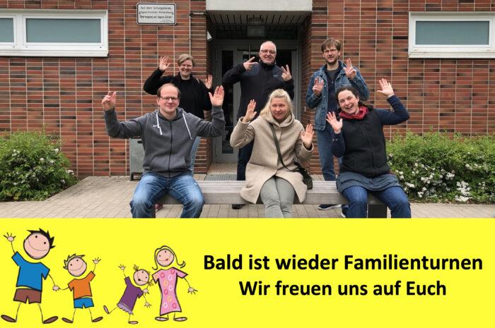 Familienturnen: Es geht ab dem 9. Juni 2021 wieder los…