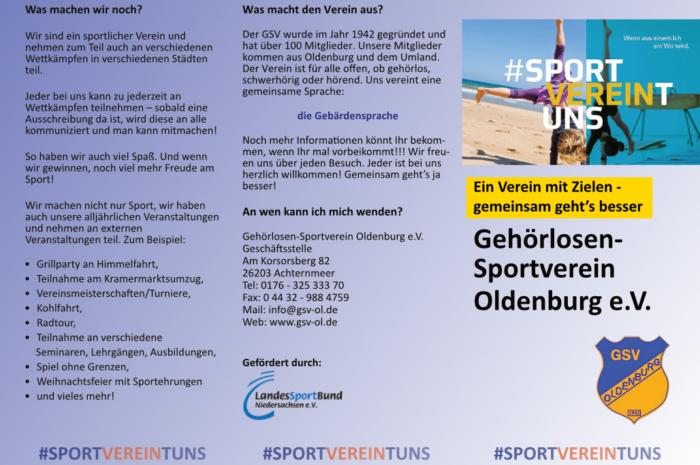 """GSV: Flyer """"Hauptverein"""""""